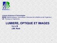 La perception des images: systèmes imageurs complexes