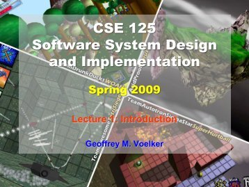 CSE125: Software System Design and Implementation