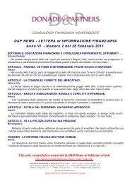 D&P News Anno 6 n. 2 del 28 Febbraio 2011 - donadiandpartners.it