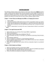 CHAPTER QUESTIONS The following questions apply to ... - Oswego