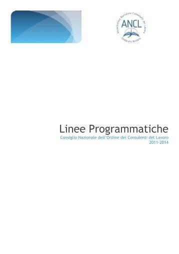 Linee Programmatiche - Ancl