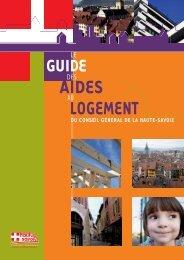AIDES LOGEMENT - Conseil Général de Haute-Savoie