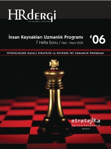 İK Uzmanlık Programı Mart-Mayıs 2006 dönemi hakkında ... - stratejİKa