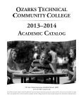 2013 - 2014 Catalog - Ozarks Technical Community College - Page 2