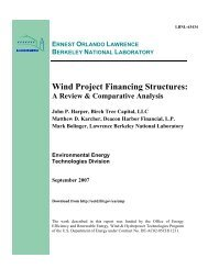 Wind Project Financing Structures: