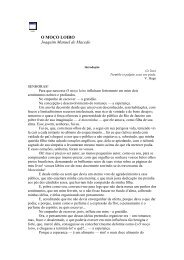 O MOÇO LOIRO Joaquim Manuel de Macedo