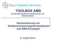 Kurzvorstellung der Toolbox 'Arbeitsschutzmanagementsysteme'
