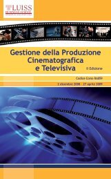 Master Luiss - Apulia Film Commission
