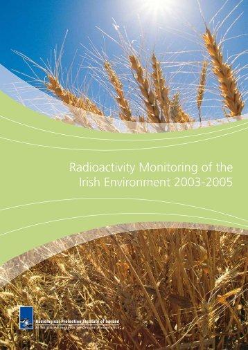 Radioactivity Monitoring of the Irish Environment 2003-2005