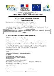 DOSSIER UNIQUE DE DEMANDE D'AIDE Exploitation agricole