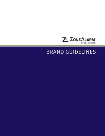 BRAND GUIDELINES - ZoneAlarm by Check Point