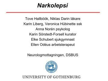 Narkolepsi riktlinjer för utredning och behandling