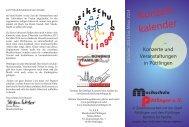 Konzert kalender - Püttlinger Bündnis für Familie
