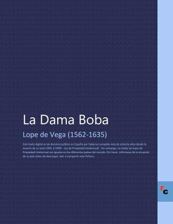 La Dama Boba - Descarga Ebooks