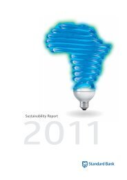 Full 2011 Sustainability Report - Standard Bank Sustainability