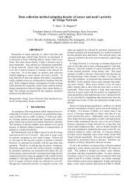 Data collection method adapting density of sensor and node's ...