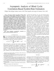 Asymptotic analysis of blind cyclic correlation-based ... - IEEE Xplore