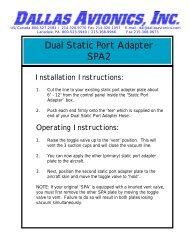 Dual Static Port Adapter SPA2 - Dallas Avionics