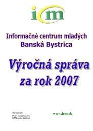 Výročná správa 2007 - Informačné centrum mladých