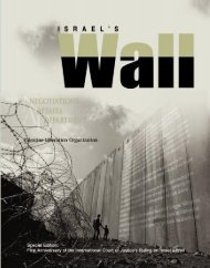 Israel's Wall - Palestine Liberation Organization Negotiations Affairs ...