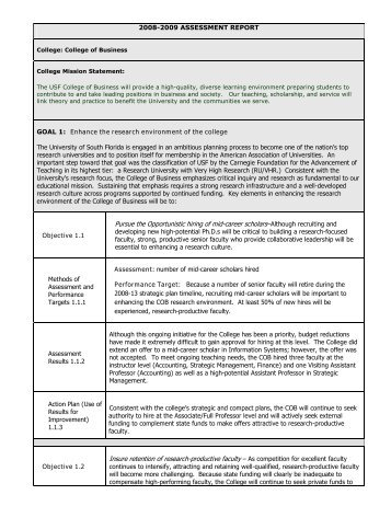 SAMPLE ASSESSMENT PLAN TEMPLATE   Office Of The Provost .