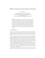 Efficient document retrieval using text clustering - TIME.mk