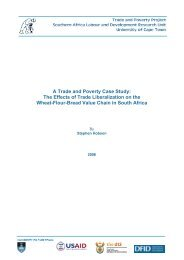 The Effects of Trade Liberalization on the Wheat-Flour-Bread ... - tips