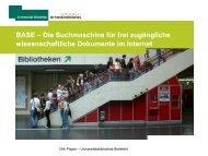 BASE – Die Suchmaschine für frei zugängliche ... - Datenschutz