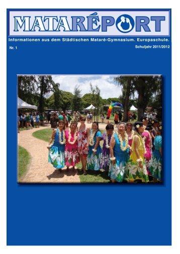 """Download des 1. """"MataReports"""" Schuljahr 2011/12 als pdf-Datei"""