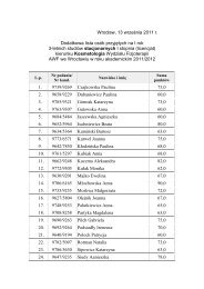 Wrocław, 13 września 2011 r. Dodatkowa lista osób przyjętych na I ...