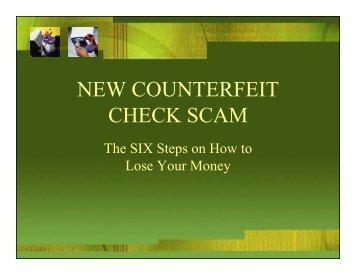 New Counterfeit Check Scam – Eric Hiyoto