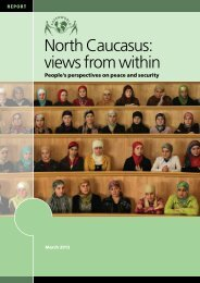 North Caucasus: views from within - Saferworld