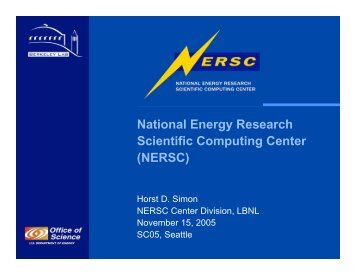 NERSC - Computational Research Division