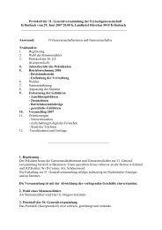 Protokoll der 31. GV vom 29.6.2007 - Fernseh Genossenschaft ...