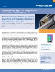 Rittal chooses new features and hassle free backup - Tandberg Data