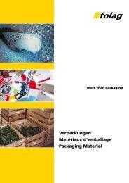 Katalog Verpackungen / Packaging - Folag AG