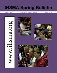 IHSMA Spring Bulletin - Iowa High School Music Association