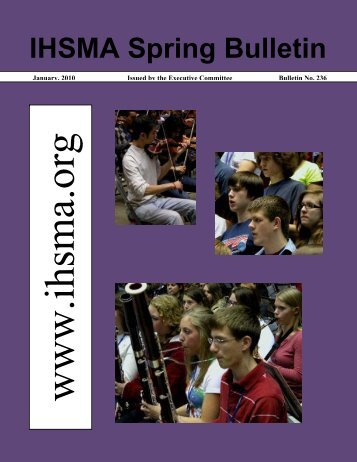 IHSMA Spring Bulletin - Iowa High School Music Association