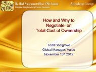 Understanding Total Cost Of Ownership - Summit - Aberdeen Group