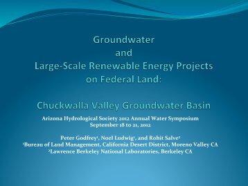 Chuckwalla Valley Groundwater Basin - Arizona Hydrological Society