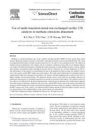Use of multi-transition-metal-ion-exchanged zeolite 13X catalysts in ...