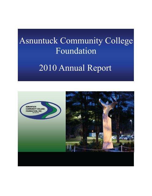 2010 Annual Report Asnuntuck Community College Foundation