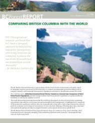 Comparing British Columbia with the World - Naturally:wood