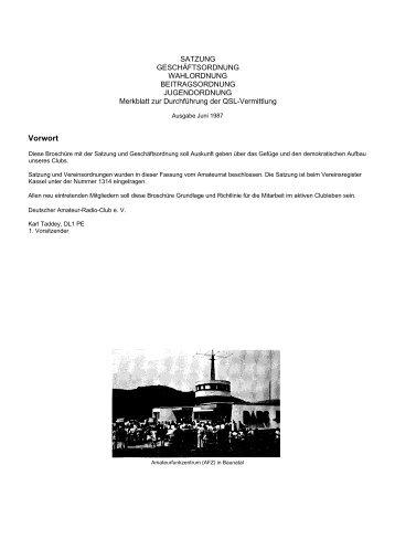 Stand Juni 1987 - Rundspruch-Archiv des DARC-Distrikts Berlin