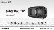 SMH5 FM - Sena Bluetooth