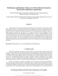 Performance optimization of long-wave infrared detectors based on ...
