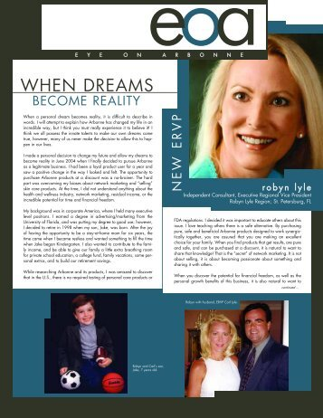 WHEN DREAMS - Arbonne