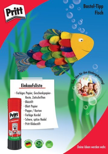 Bastelanleitung Fisch Download - Pritt