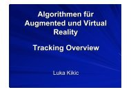 Algorithmen für Augmented und Virtual Reality Tracking Overview