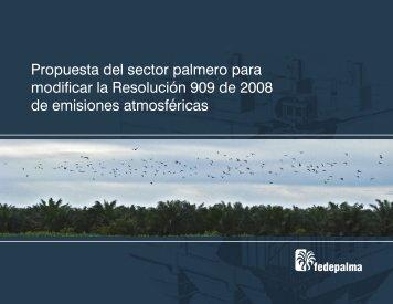 Propuesta del sector palmero para modificar la ... - Fedepalma